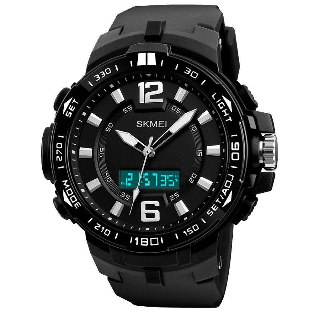SKMEI 時刻美1273-雙機芯多功能防震防水電子錶(3色任選)