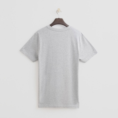 Hang Ten - 男裝 - 有機棉-純色賽車logo棉T - 灰