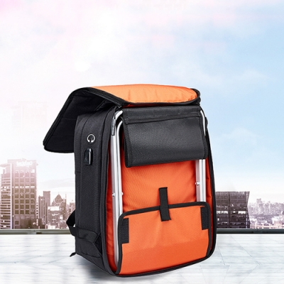 【索樂生活】隨身折疊座椅電腦後背包.防潑水摺疊雙肩筆電包排隊凳子ipad公事商務包