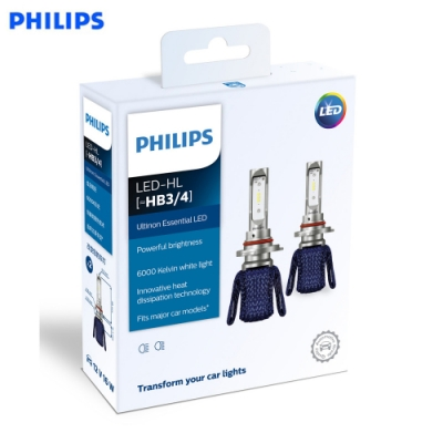 PHILIPS光劍 LED頭燈Essential Ultinon HB3/HB4頭燈兩入裝