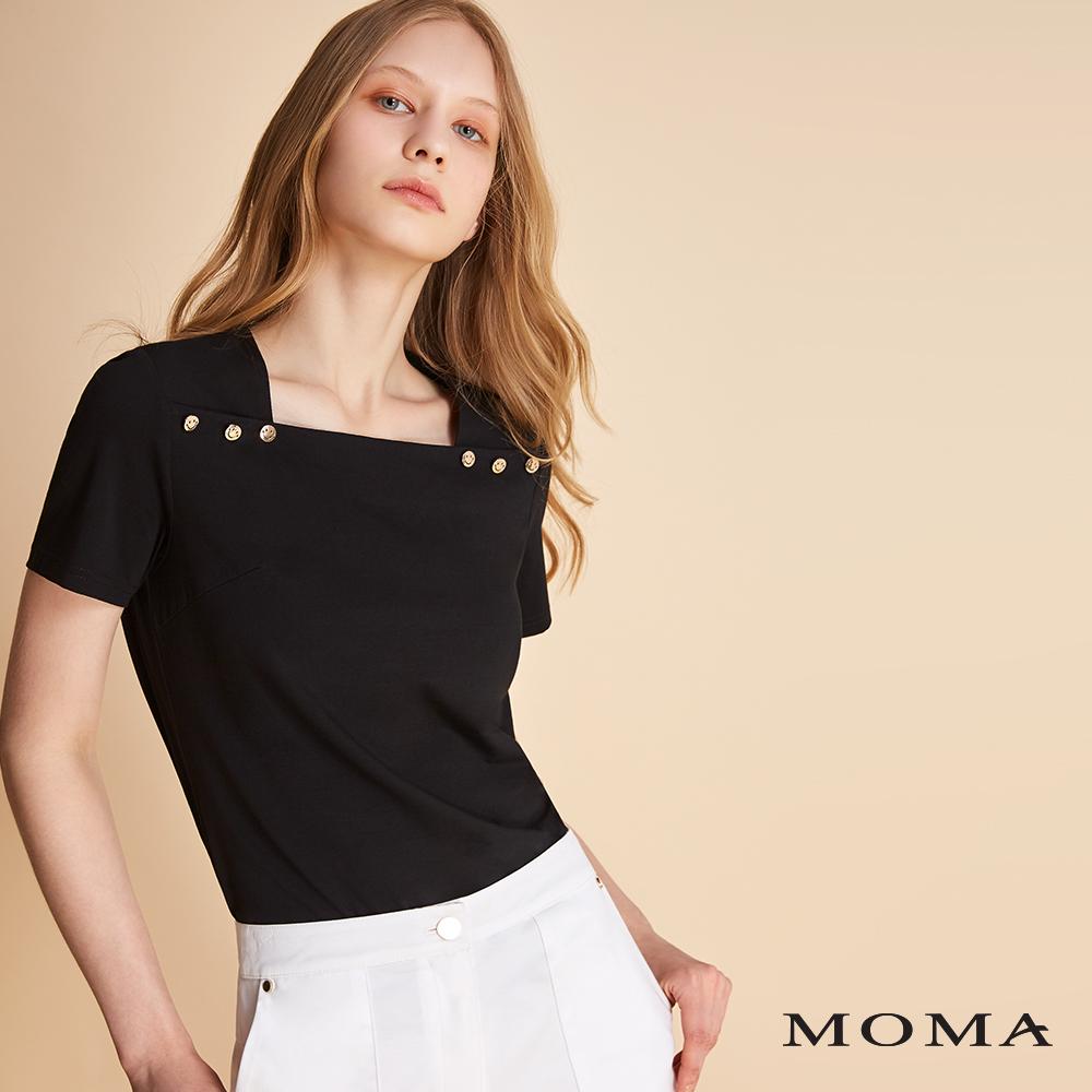 MOMA 方領肩釦上衣