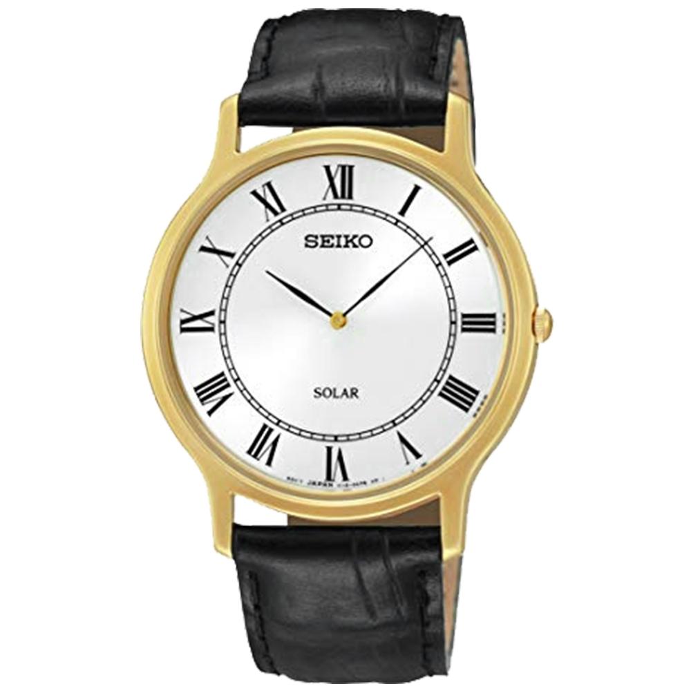 SEIKO精工  築造偉業太陽能石英女腕錶(SUP878P1)-白x38mm