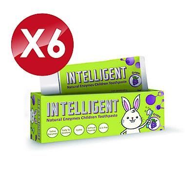 (6入組) Intelligent 因特力淨 兒童酵素牙膏 (葡萄) 40gX6