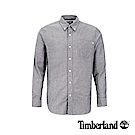 Timberland 男款深藍寶石色彈力牛津紡長袖襯衫 A1WNK