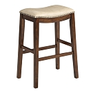 【AT HOME】輕工業風黑/米白/桃紅皮胡桃高椅/安可-三色可選