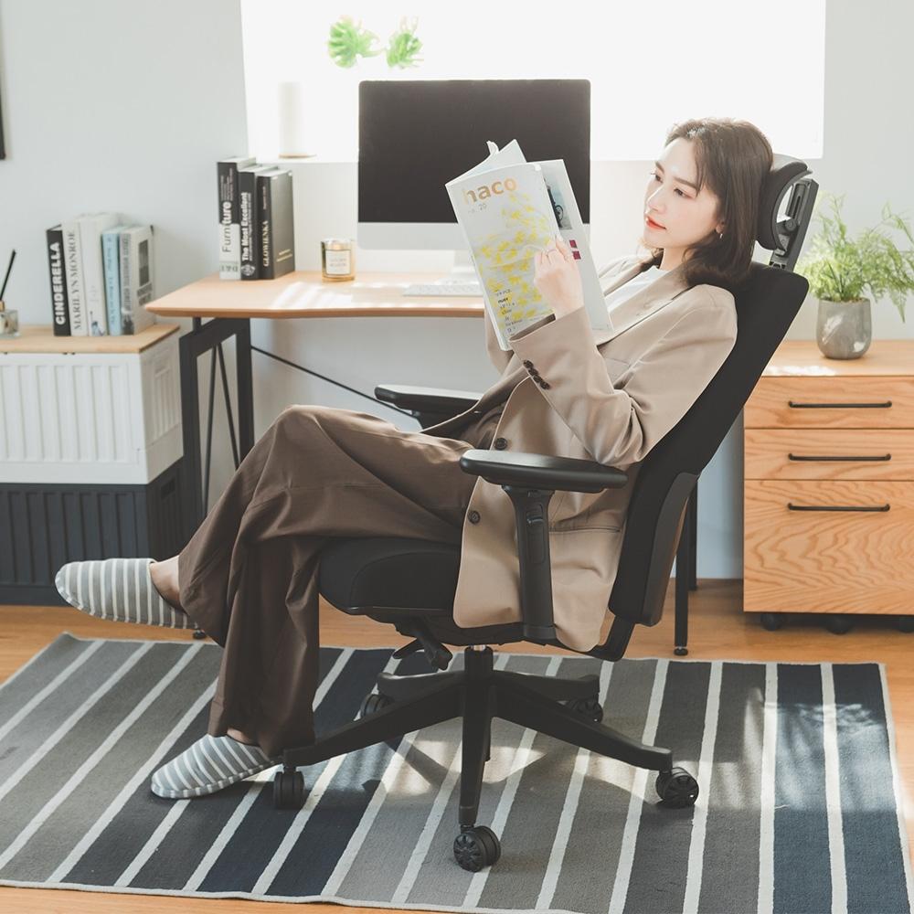 買就送 完美主義人體工學4D頭靠電腦椅/主管椅/辦公椅/德國設計工藝椅