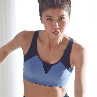 蕾黛絲-LadieSport好運動-Level4-吸震背心 C.E罩杯內衣 好動藍