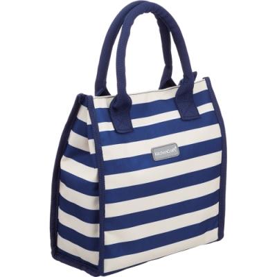 《KitchenCraft》手提保冷袋(橫紋藍4L)