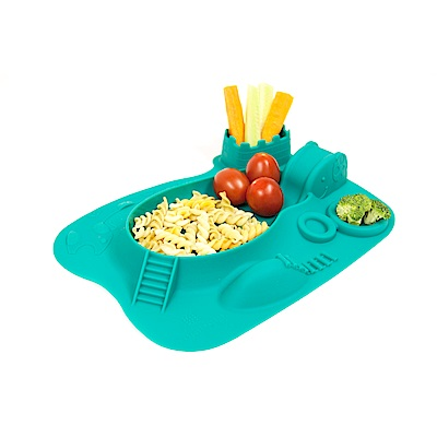 【MARCUS&MARCUS】動物樂園遊樂造型餐盤-大象(綠)