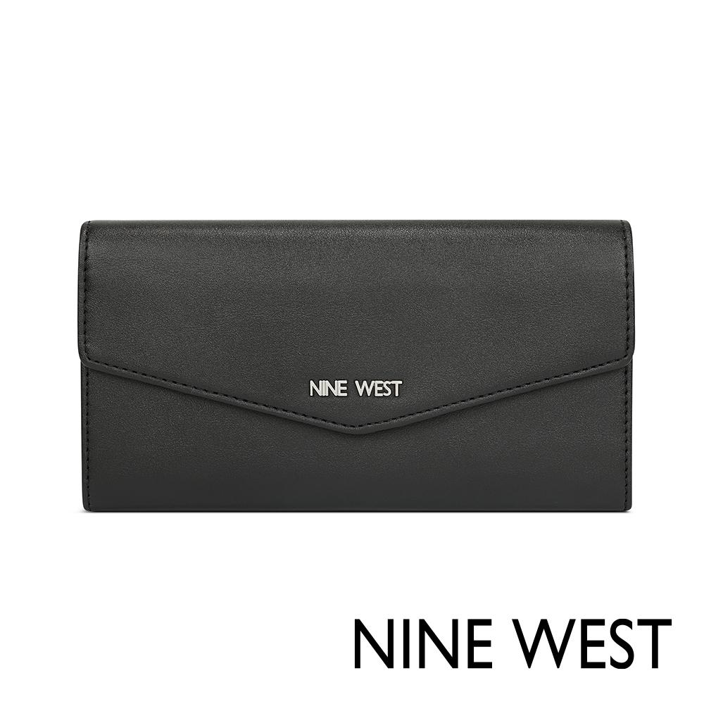 NINE WEST WHITLEY壓釦式長夾-黑色(517652)