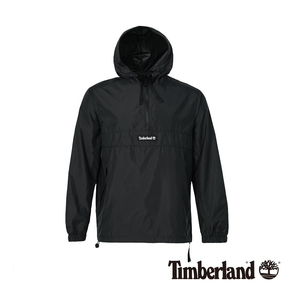 Timberland 男款黑色潮流套頭夾克 A1O8K