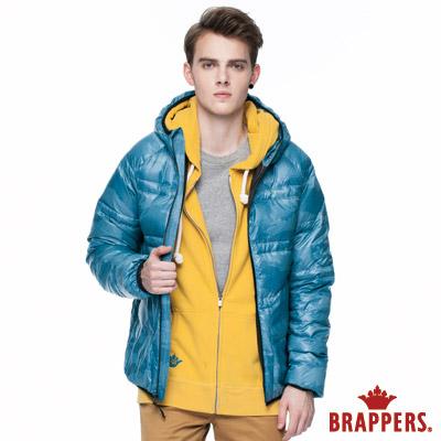 BRAPPERS 男款 男用迷彩印花羽絨外套-土耳其藍