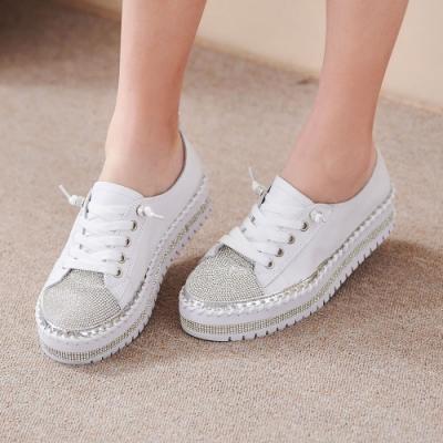 [時時樂限定]Camille's 韓國空運-鑽石厚底懶人小白鞋-5款任選