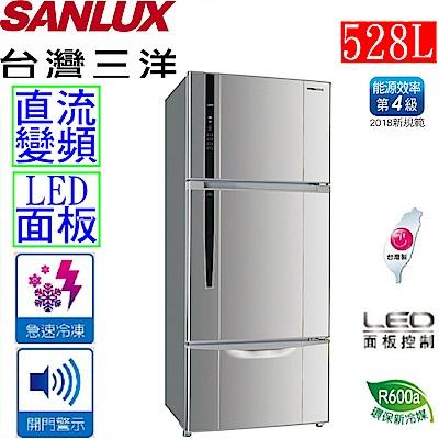 SANLUX台灣三洋 528L 4級變頻3門電冰箱 SR-B528CV
