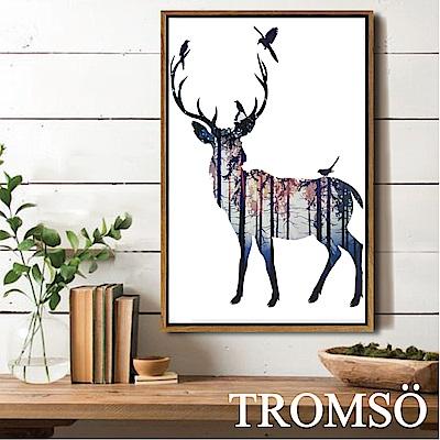 TROMSO北歐風尚板畫有框畫-北歐大鹿40X60CM