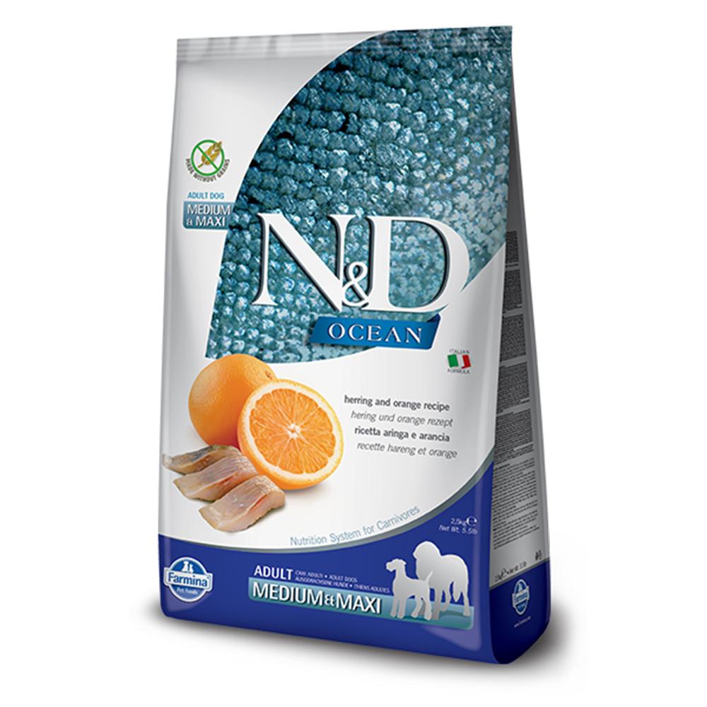 Farmina法米納 海洋頂級無穀全齡犬糧-鯡魚甜橙-潔牙顆粒(OD4)2.5kg