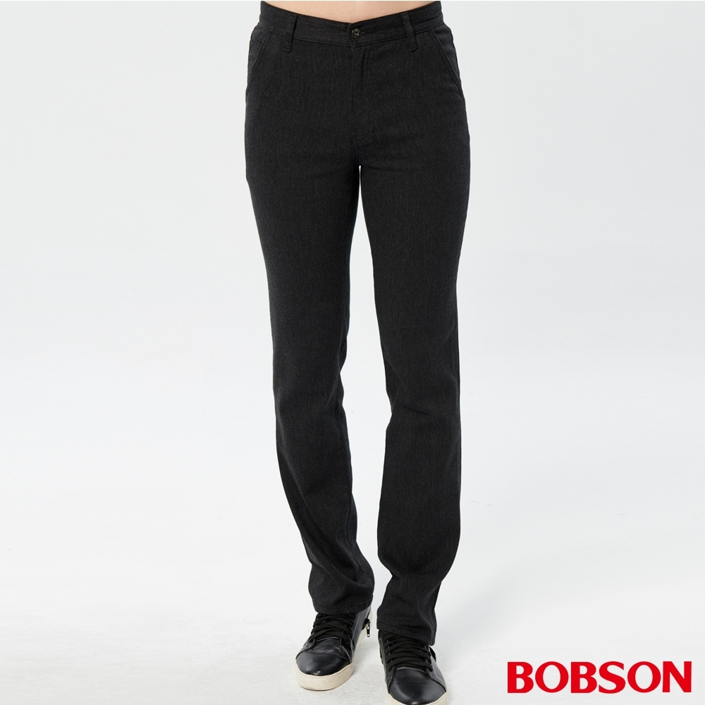 BOBSON 男款斜口袋彈性直筒褲 product image 1