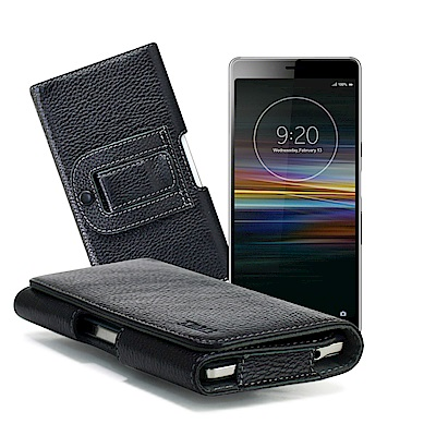 Xmart for SONY Xperia L3 麗緻真皮腰掛皮套