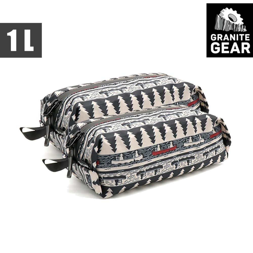 【Granite Gear】1000272 70D ZippDitty 輕量拉鍊式立體收納袋(1L) / 2入 / 月光與槳