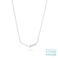 純銀不對稱鋯石項鍊