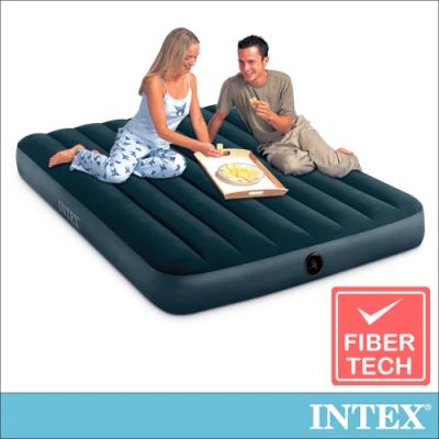 INTEX經典雙人(fiber-tech)充氣床墊(綠絨)-寬137cm(64108)