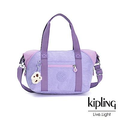 Kipling 甜美薰衣草紫手提側背包-ART MINI