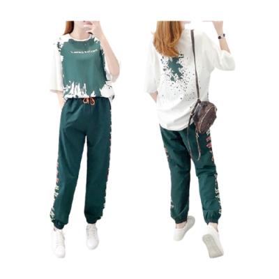 【韓國K.W.】(預購) 簡約清新潑彩套裝褲(共1色)