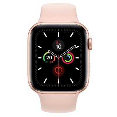 [無卡分期-12期]Apple Watch S5(GPS+網路)44mm金鋁+粉沙錶帶