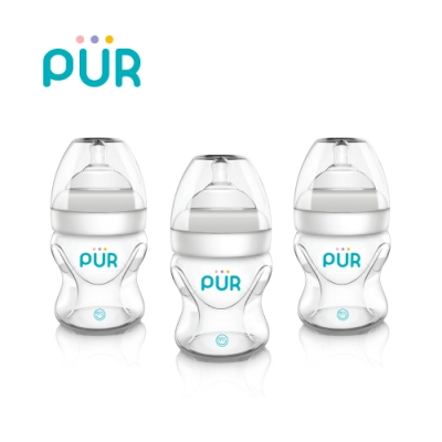 PUR Advanced Pro-flo防脹氣寬口PP奶瓶3入組150ml