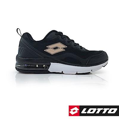 LOTTO 義大利 女 FLUX 避震氣墊跑鞋  (黑)