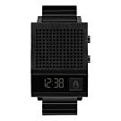 NIXON 科技潮流方型電子腕錶-黑(A1266001)/35X45mm