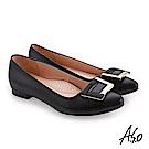 A.S.O 義式簡約 精選質感時尚亮眼高跟鞋 黑