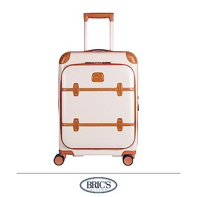 BRICS 義大利經典款 19.5吋 前開式登機箱 米白色 飛機輪