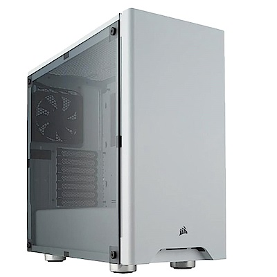 Carbide 275R 電競機殼/白色/鋼化玻璃/中塔機殼/2年保