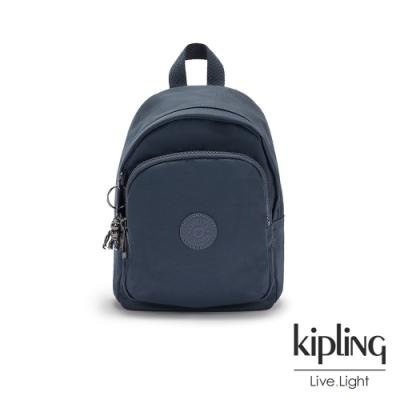 Kipling 質感都市藍灰色休閒後背包-DELIA COMPACT