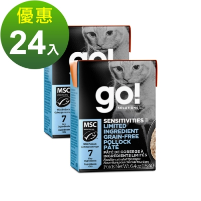 go! 豐醬無穀鱈魚 182g 24件組 鮮食利樂貓餐包 (主食罐 肉泥)