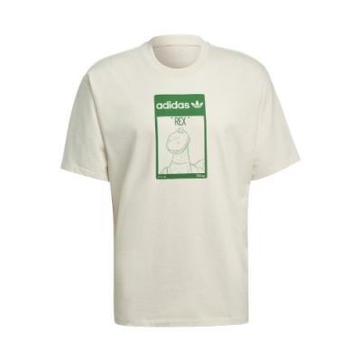 adidas T恤 Original Tee Rex 男女款 愛迪達 三葉草 抱抱龍 短袖 環保 淺褐 綠 GP3396