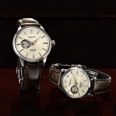 SEIKO 精工 Presage系列Star Bar 銀座蜂巢限量機械對錶
