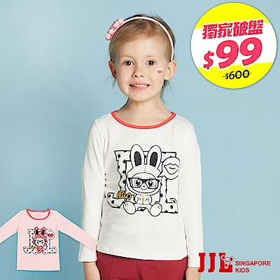 JJLKIDS 可愛小鼠印花造型上衣(2色)