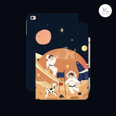 漁夫原創 iPad mini 4/5 平板保護殼 太空(書本式/軟殼/無筆槽)