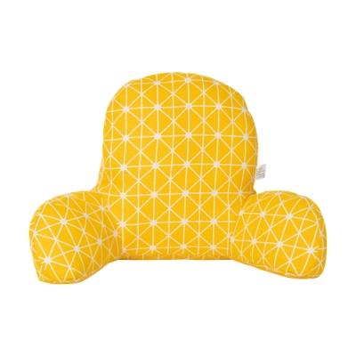 樂嫚妮 多功能椅背靠枕/靠腰枕/抱枕/腰枕/腰靠枕/靠墊-黃色亞麻
