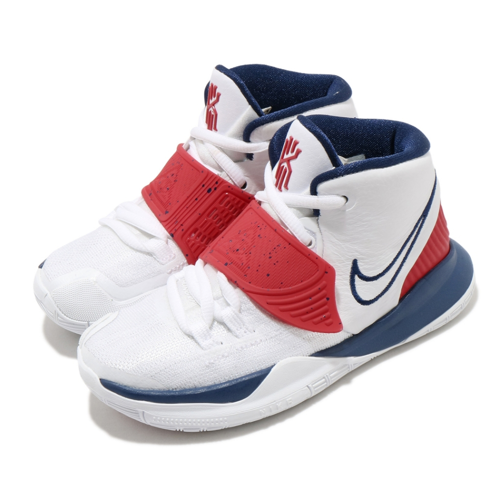 Nike 籃球鞋 Kyrie 6 PS 運動 童鞋 Irving 6代 魔鬼氈 厄文 中童 白 紅 BQ5600102