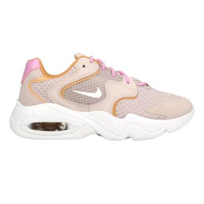 NIKE AIR MAX 2X 女休閒運動鞋-氣墊 慢跑 路跑 老爹鞋 CK2947003 藕粉白土黃