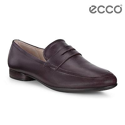ECCO ANINE 英式方型平底樂福鞋 女-霧紅色