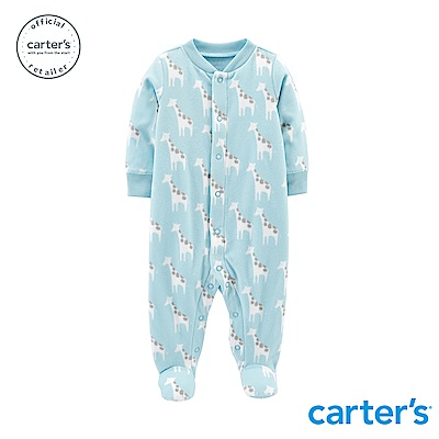 Carter's 長頸鹿印圖包腳連身裝