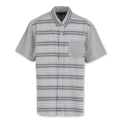 Hang Ten - 男裝 - 流行休閒條紋立體襯衫 - 灰