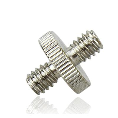 JJC鋼製1/4吋公螺牙互轉GM1414(將母1/4 螺絲孔轉成公1/4 螺牙)1/4 male to 1/4 male二分轉二分 M2轉M2