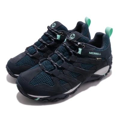 Merrell 戶外鞋 Alverstone GTX 女鞋 登山 越野 耐磨 防潑水 麂皮 透氣 藍 綠 ML033020