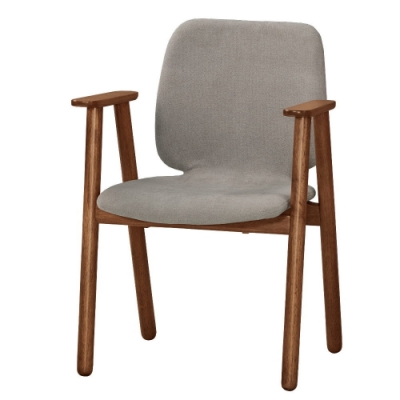 MUNA 艾布納餐椅(布)(實木)(1入)  58X55X82cm