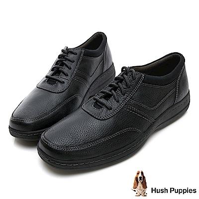 Hush Puppies ELKHOUND 超彈力綁帶休閒鞋-黑